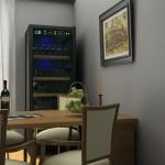 Wijnklimaatkast in kamer