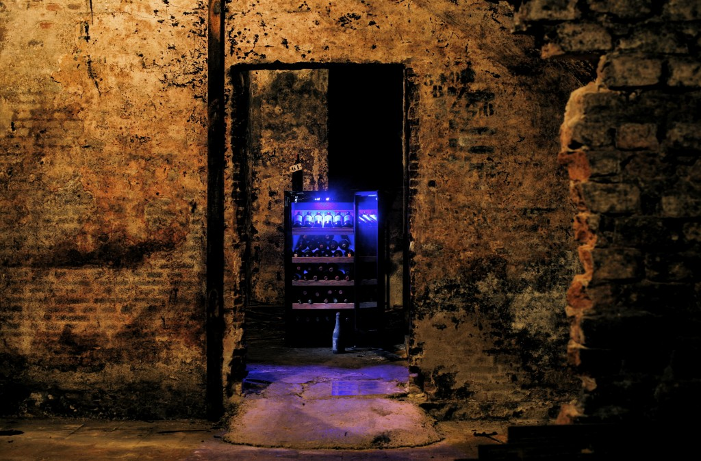 wijnklimaatkast in wijnkelder